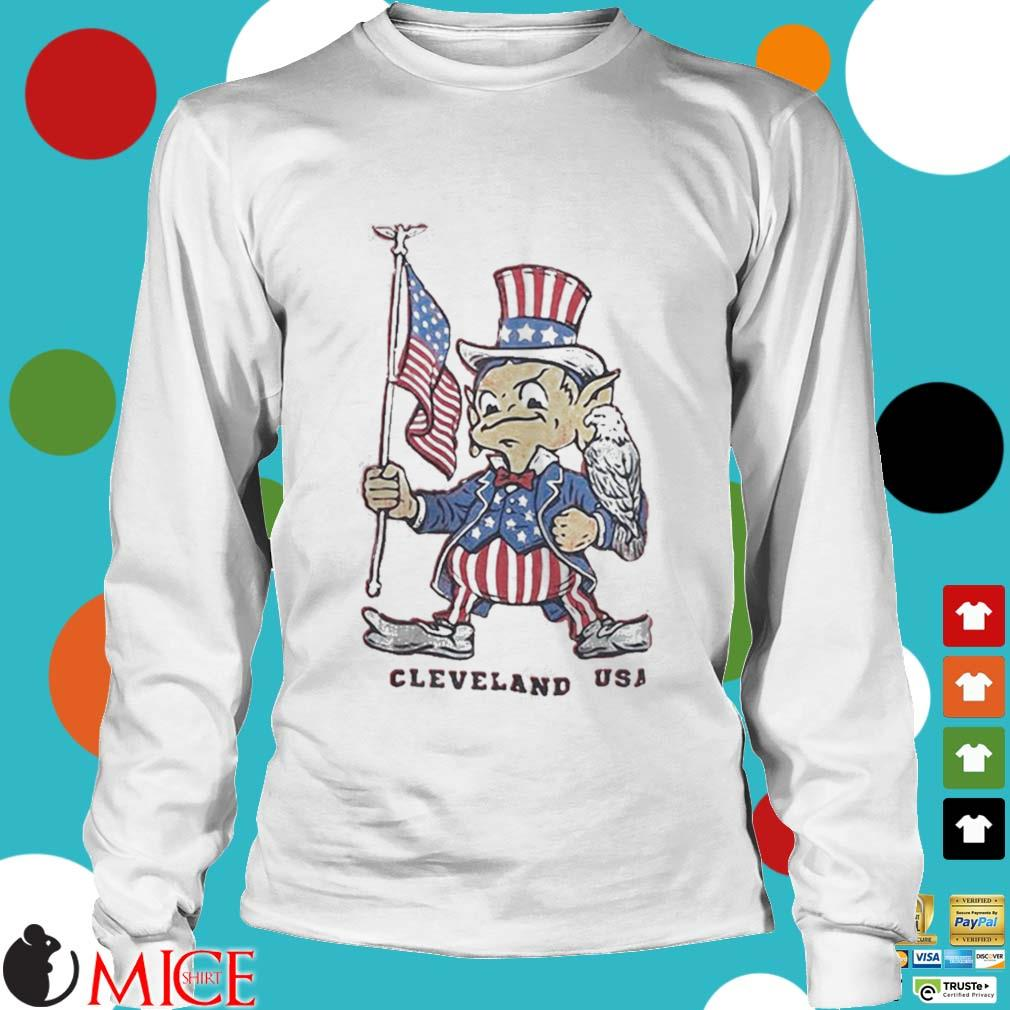 Independence day flag eagles cleveland USA s t Longsleeve