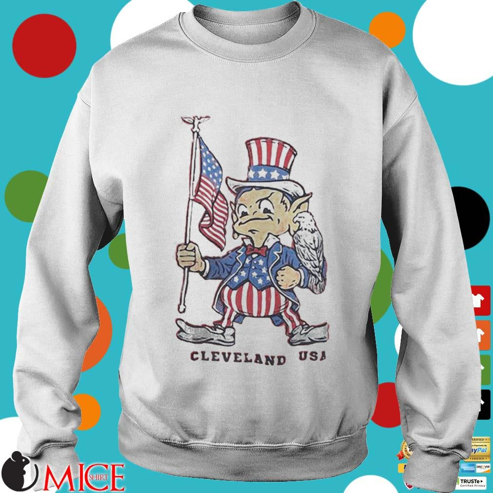 Independence day flag eagles cleveland USA s t Sweater