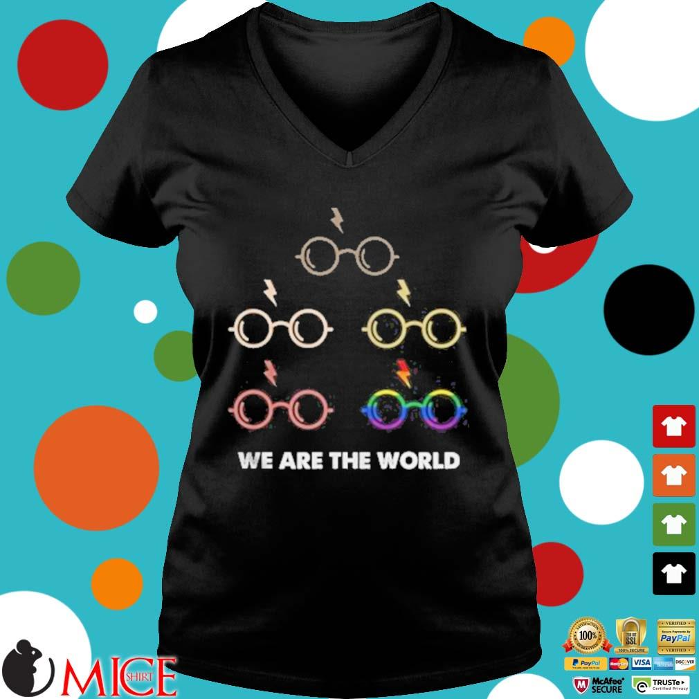 Lgbt harry potter we are the world s d Ladies V-Neck