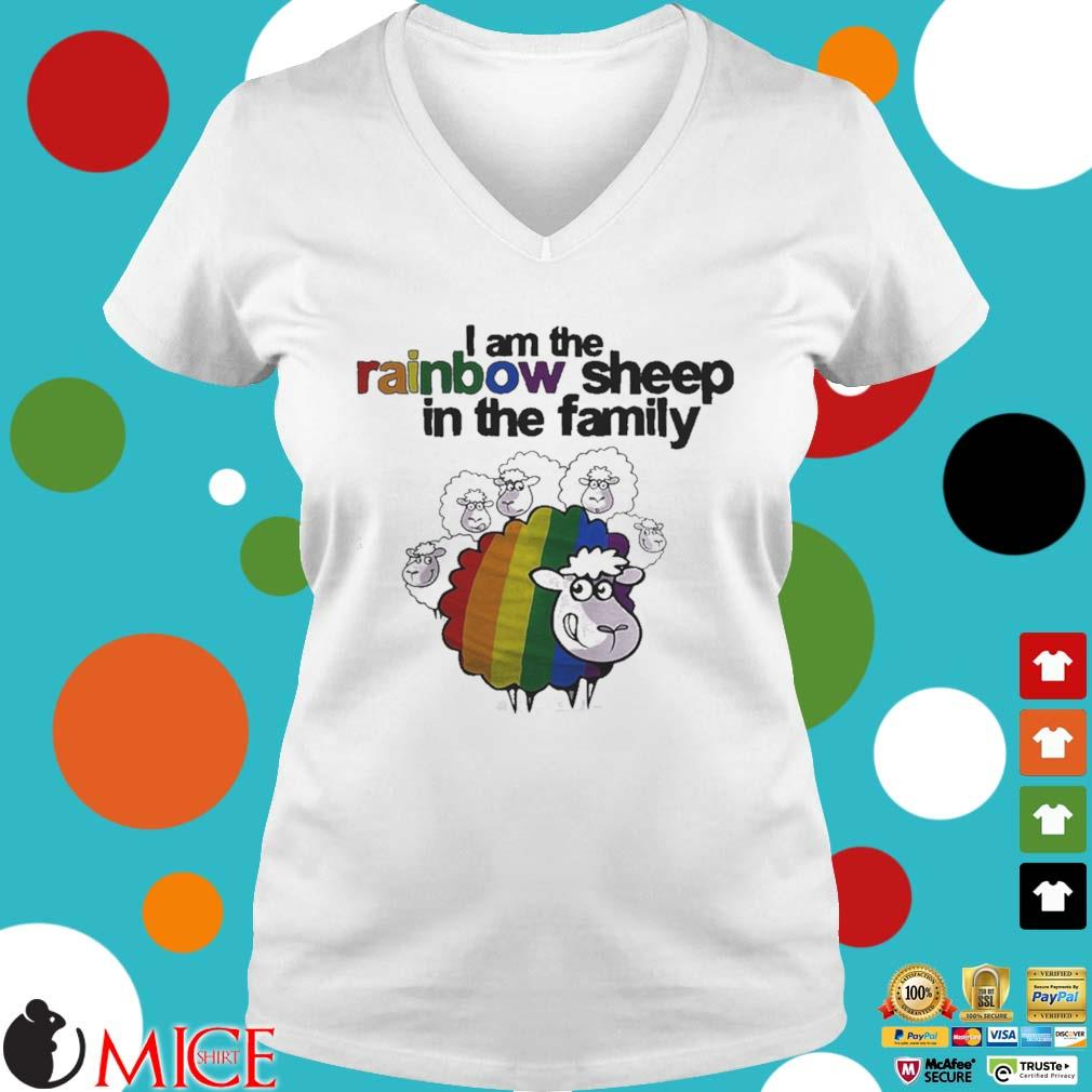 Lgbt i am the rainbow sheep in the family s t Ladies V-Neck