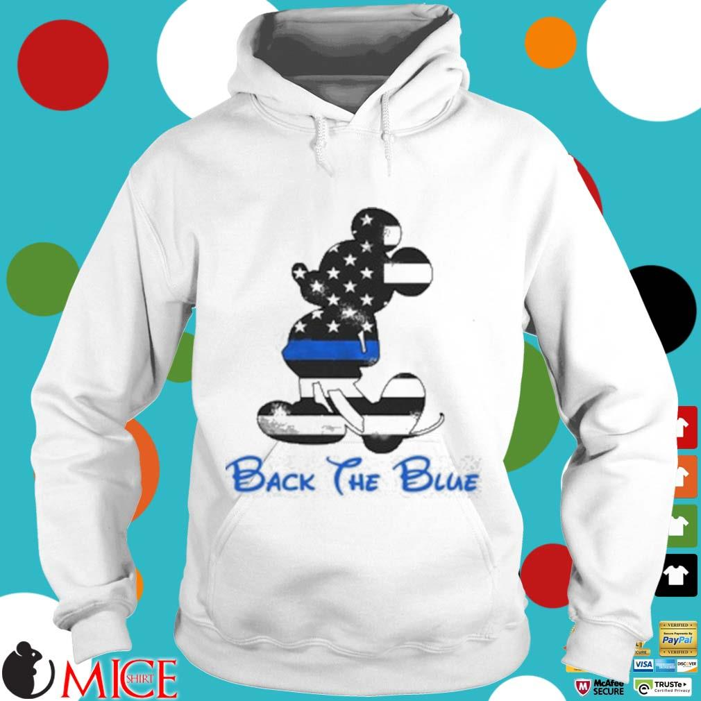 Mickey Mouse Back The Blue American Flag Shirt t Hoodie