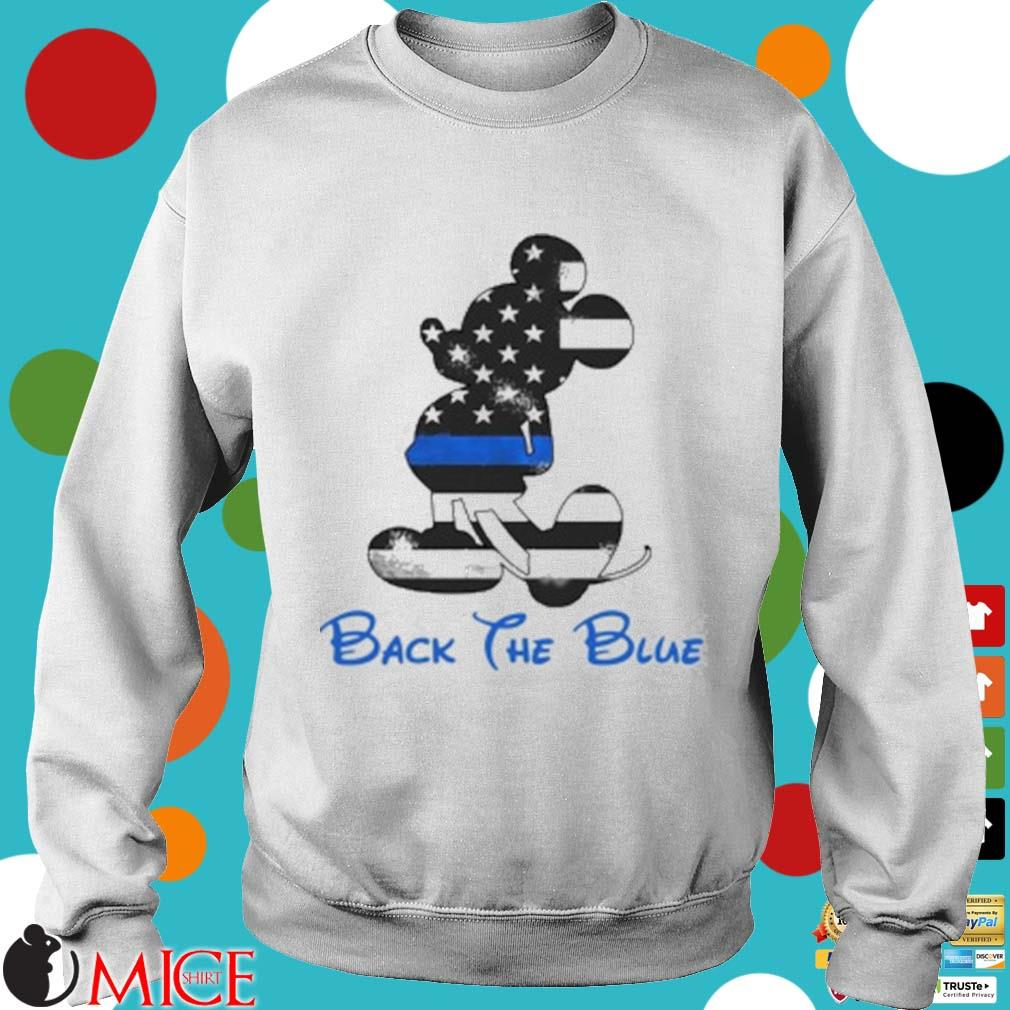 Mickey Mouse Back The Blue American Flag Shirt t Sweater
