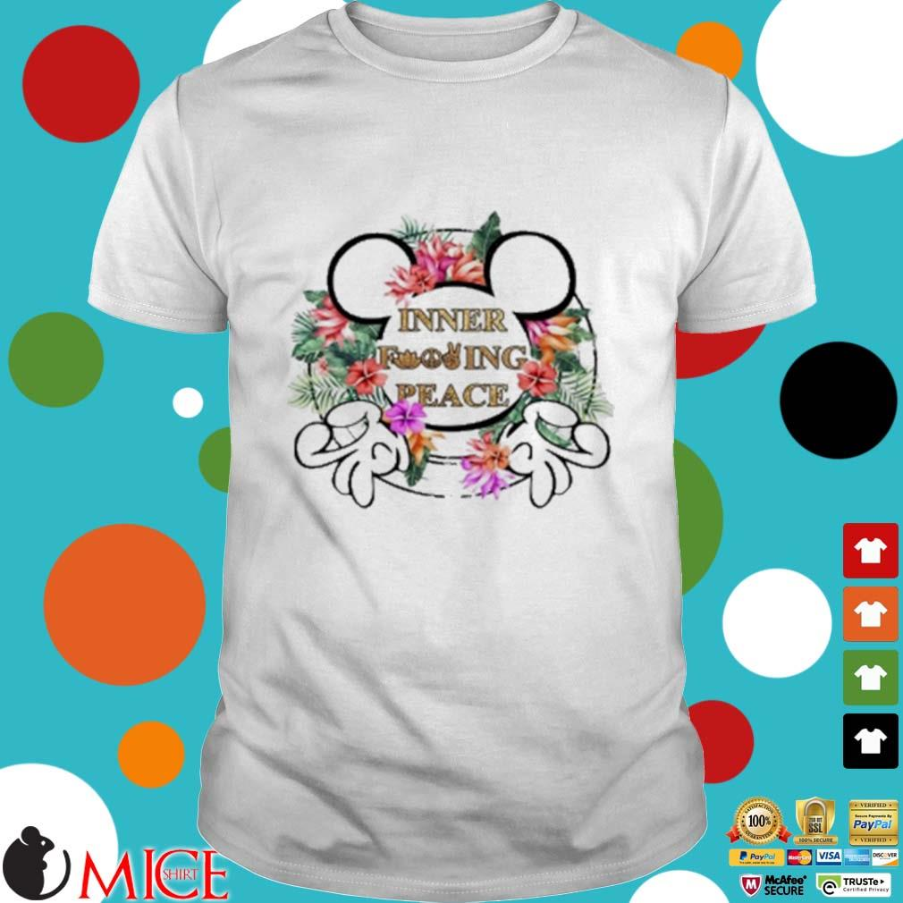 Mickey Mouse Inner Fucking Peace Flowers Shirt