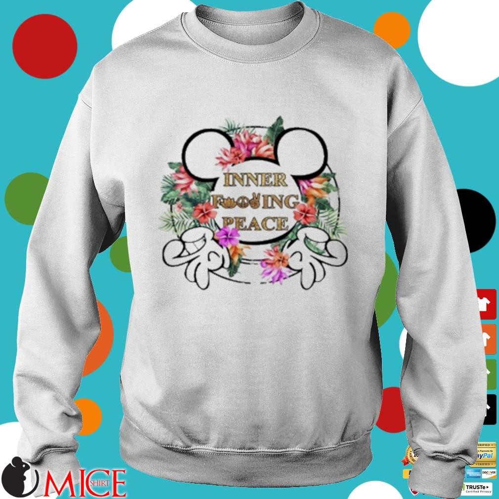 Mickey Mouse Inner Fucking Peace Flowers Shirt t Sweater