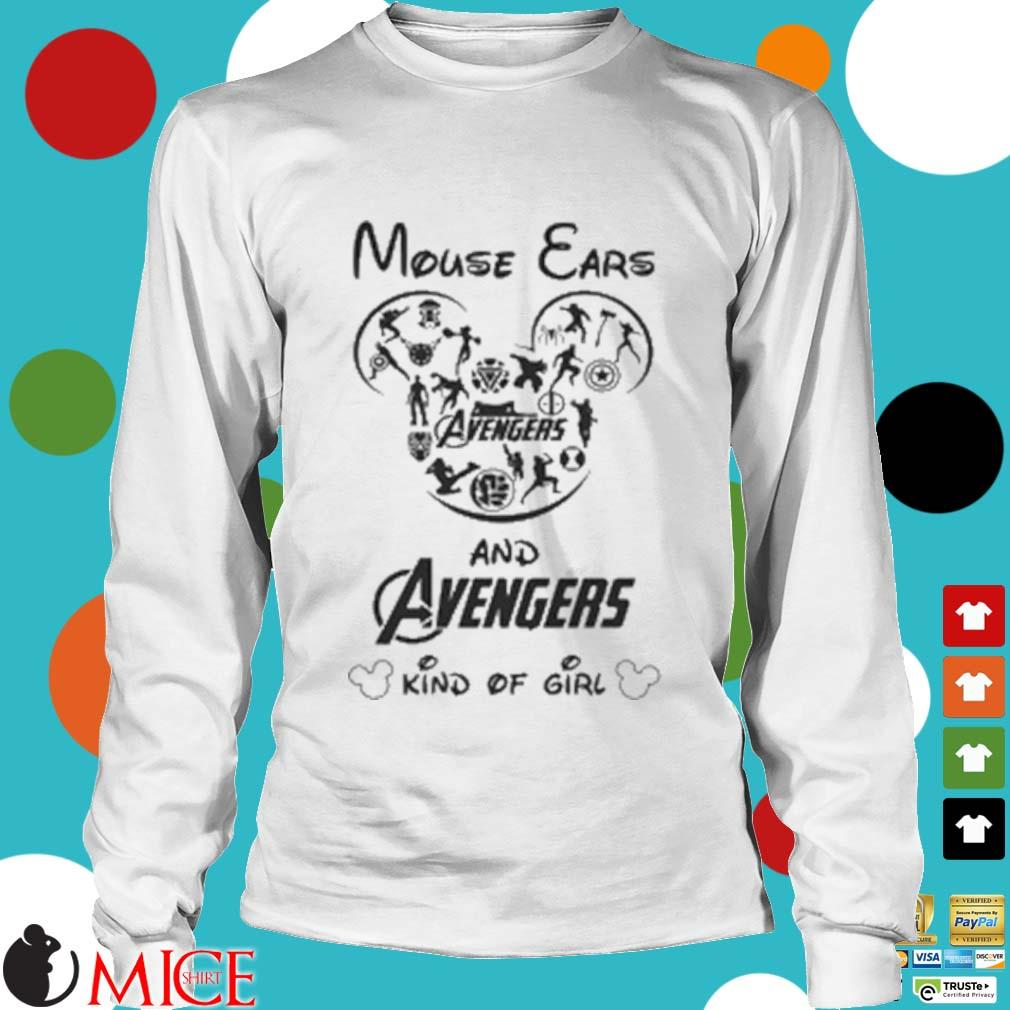 Mouse Ears And Avengers Kind Of Girl Shirt t Longsleeve