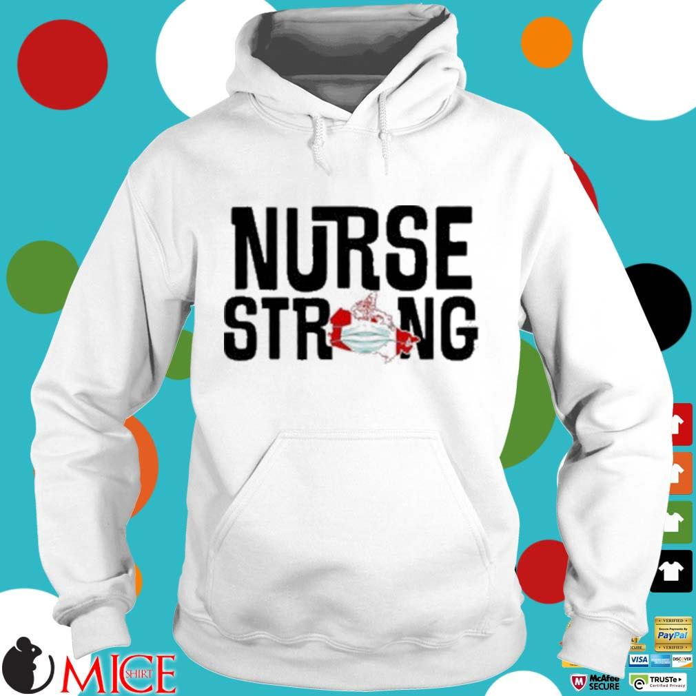 Nurse Strong Mask Map Canada Shirt t Hoodie
