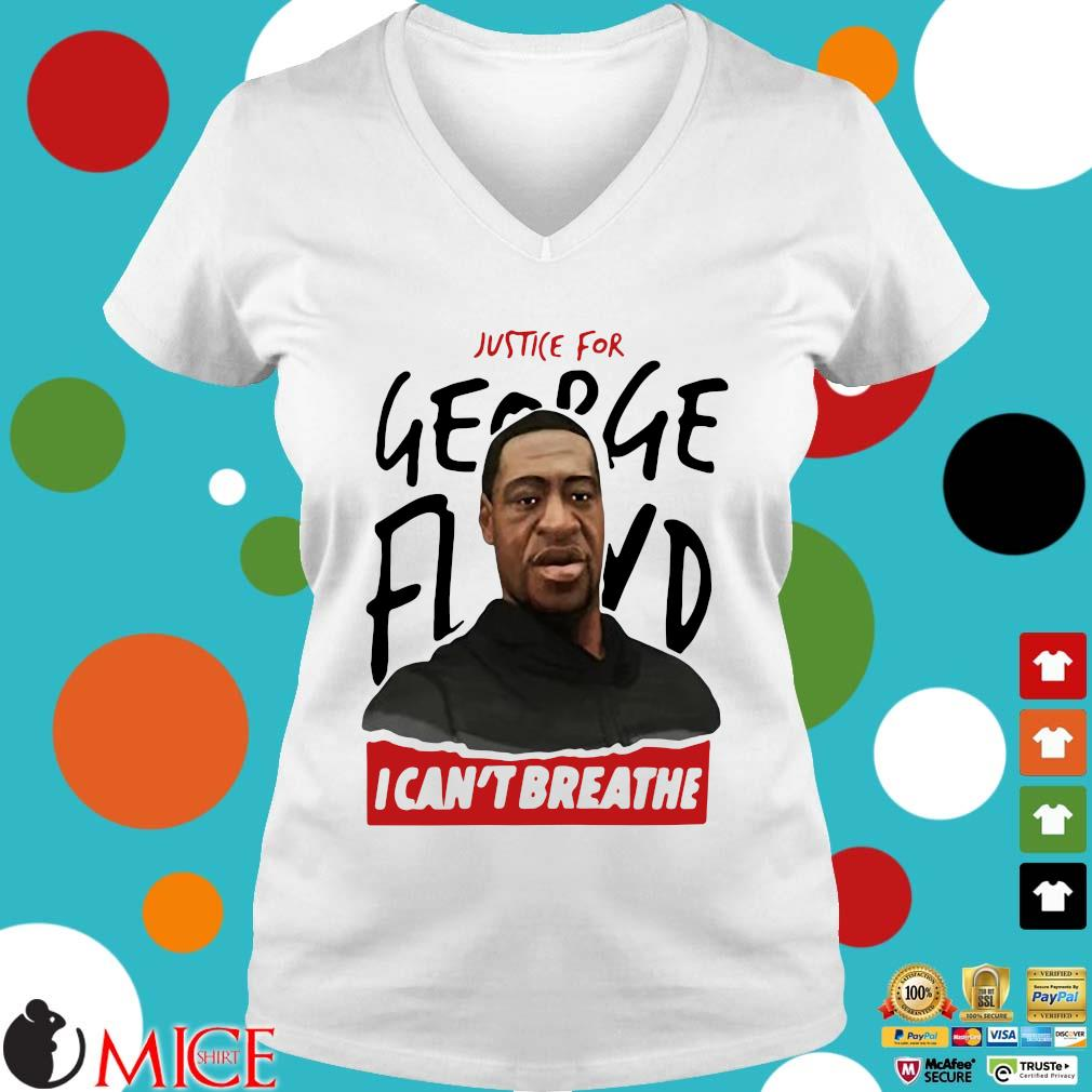Rip George Floyd Justice For I Can't Breathe Shirt t Ladies V-Neck