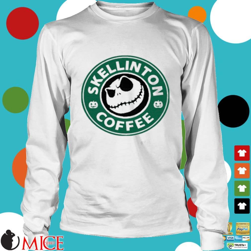 Skellington Coffee Shirt t Longsleeve