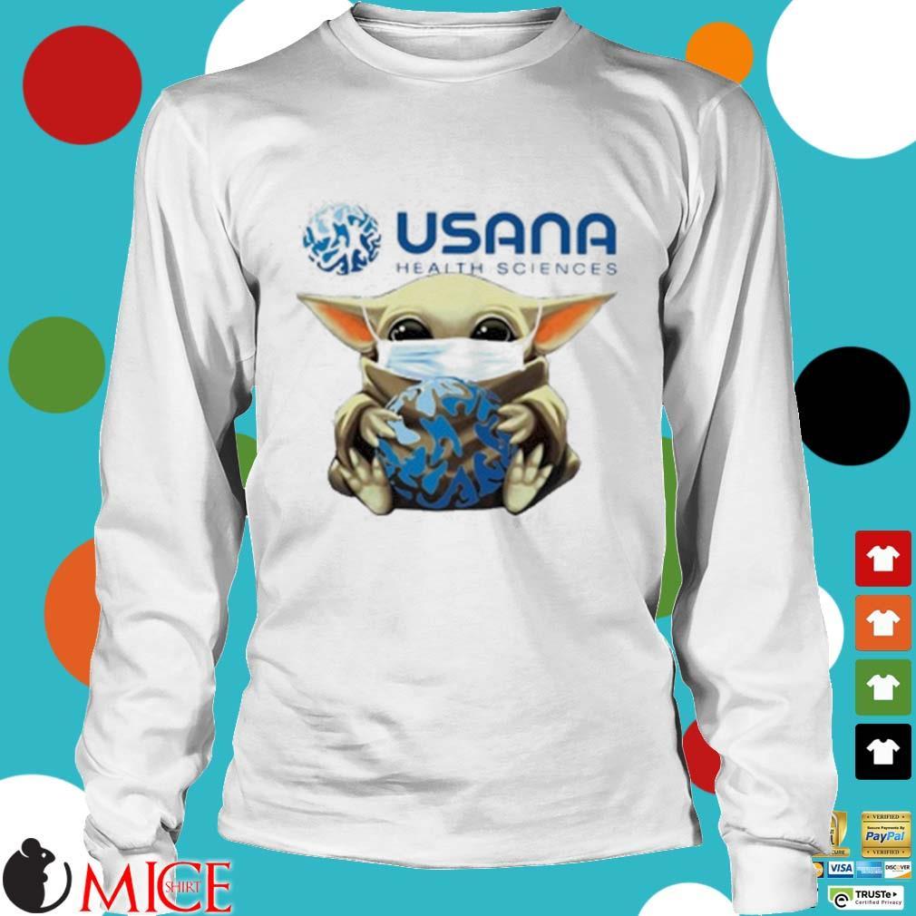 Star Wars Baby Yoda Mask Hug Usana Health Sciences Shirt t Longsleeve