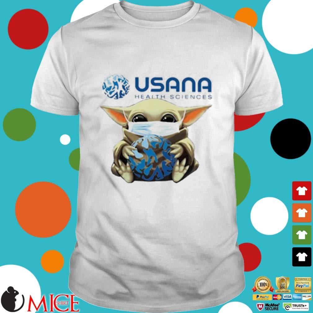 Star Wars Baby Yoda Mask Hug Usana Health Sciences Shirt