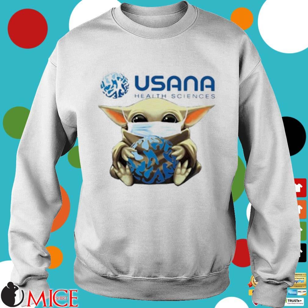 Star Wars Baby Yoda Mask Hug Usana Health Sciences Shirt t Sweater