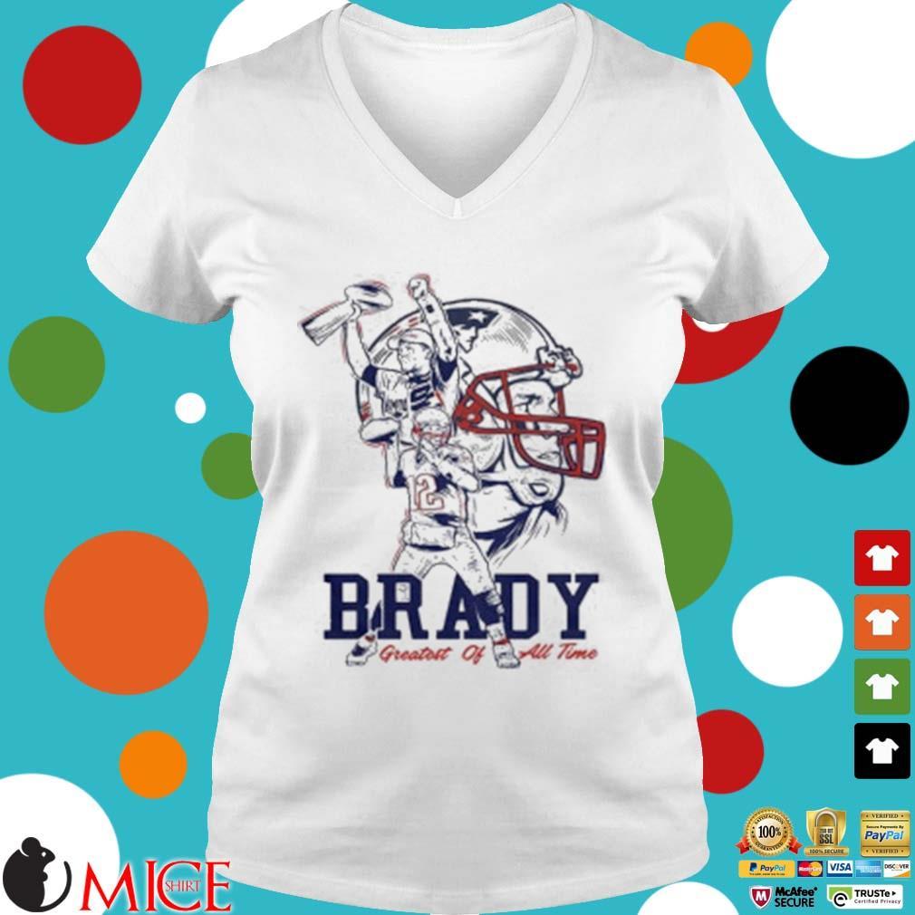 Tom Brady New England Patriots Greatest Of All Time Shirt t Ladies V-Neck