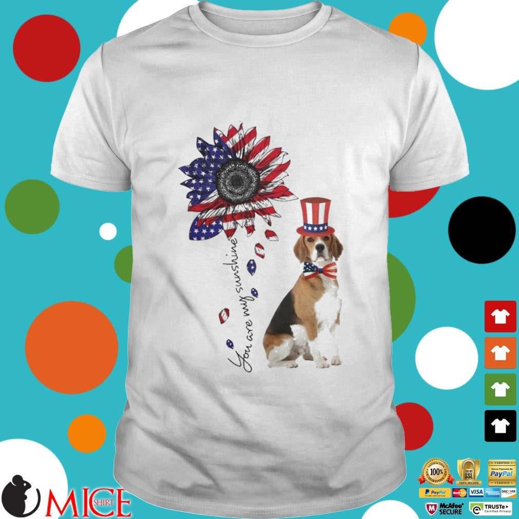 You Are My Sunshine Treeing Walker Coonhound 4th Of July Shirt