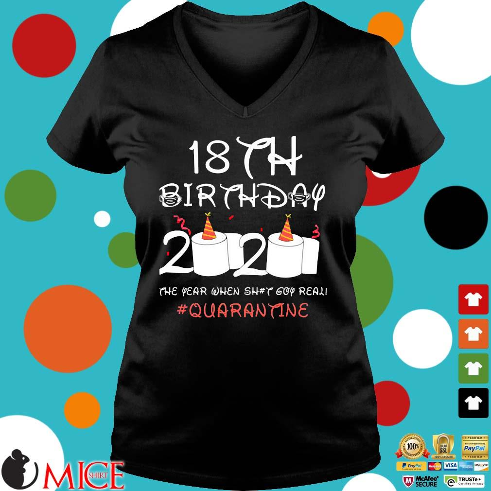 18th Birthday Quarantine Shirt Ladies V-Neck den