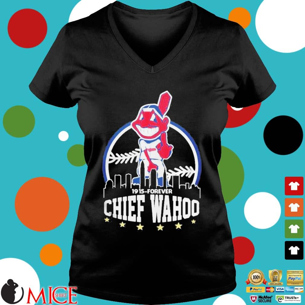 1915 Forever Chief Wahoo Shirt d Ladies V-Neck