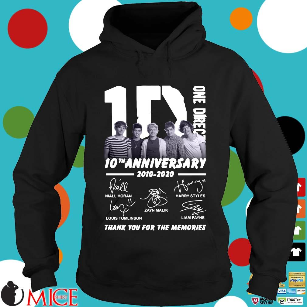 1D One Direction 10th anniversary 2010 2020 signatures thank you for the memories s Hoodie dend