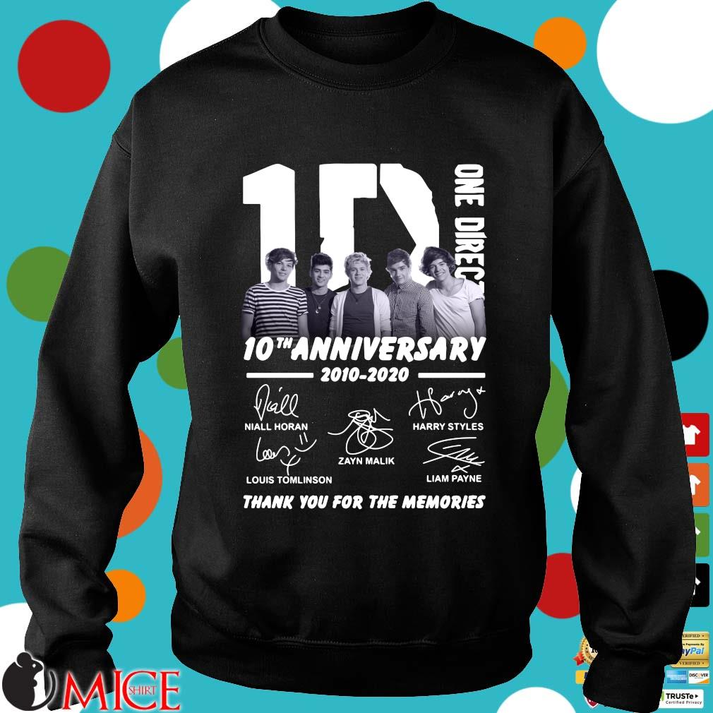 1D One Direction 10th anniversary 2010 2020 signatures thank you for the memories s Sweater den