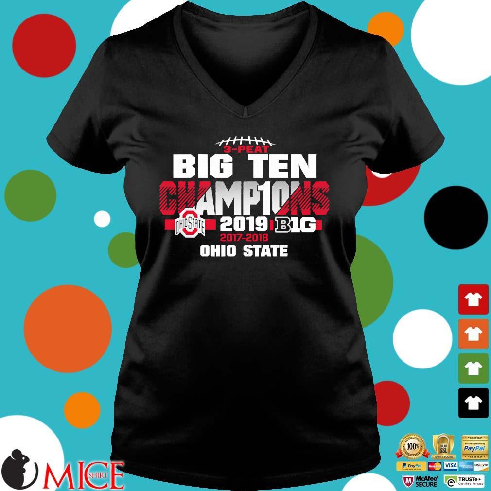 2019 Big Ten Football Champions Ohio State Buckeyes s Ladies V-Neck den