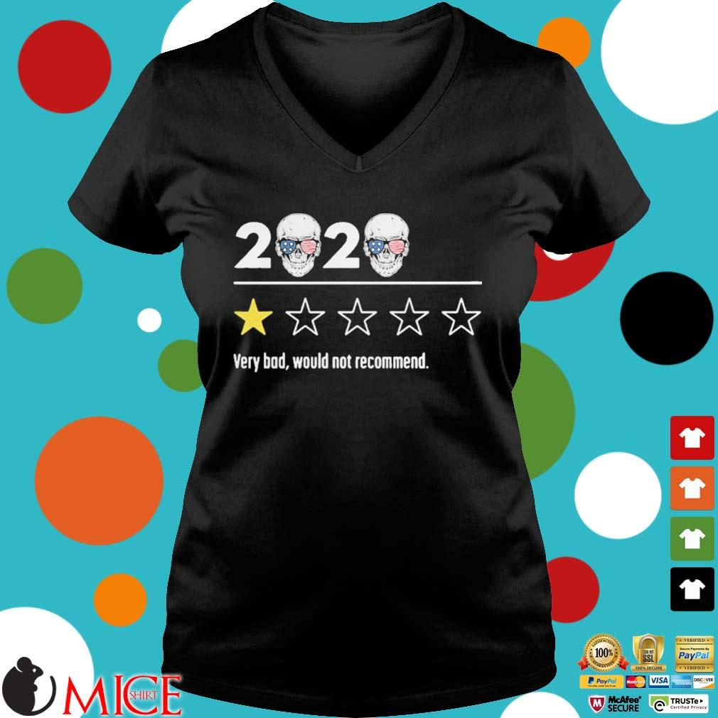 2020 skull glasses independence day very bad would not recommend s d Ladies V-Neck