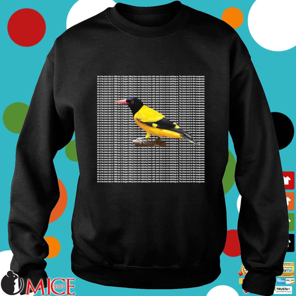 All of the birds died in 1986 s Sweater den