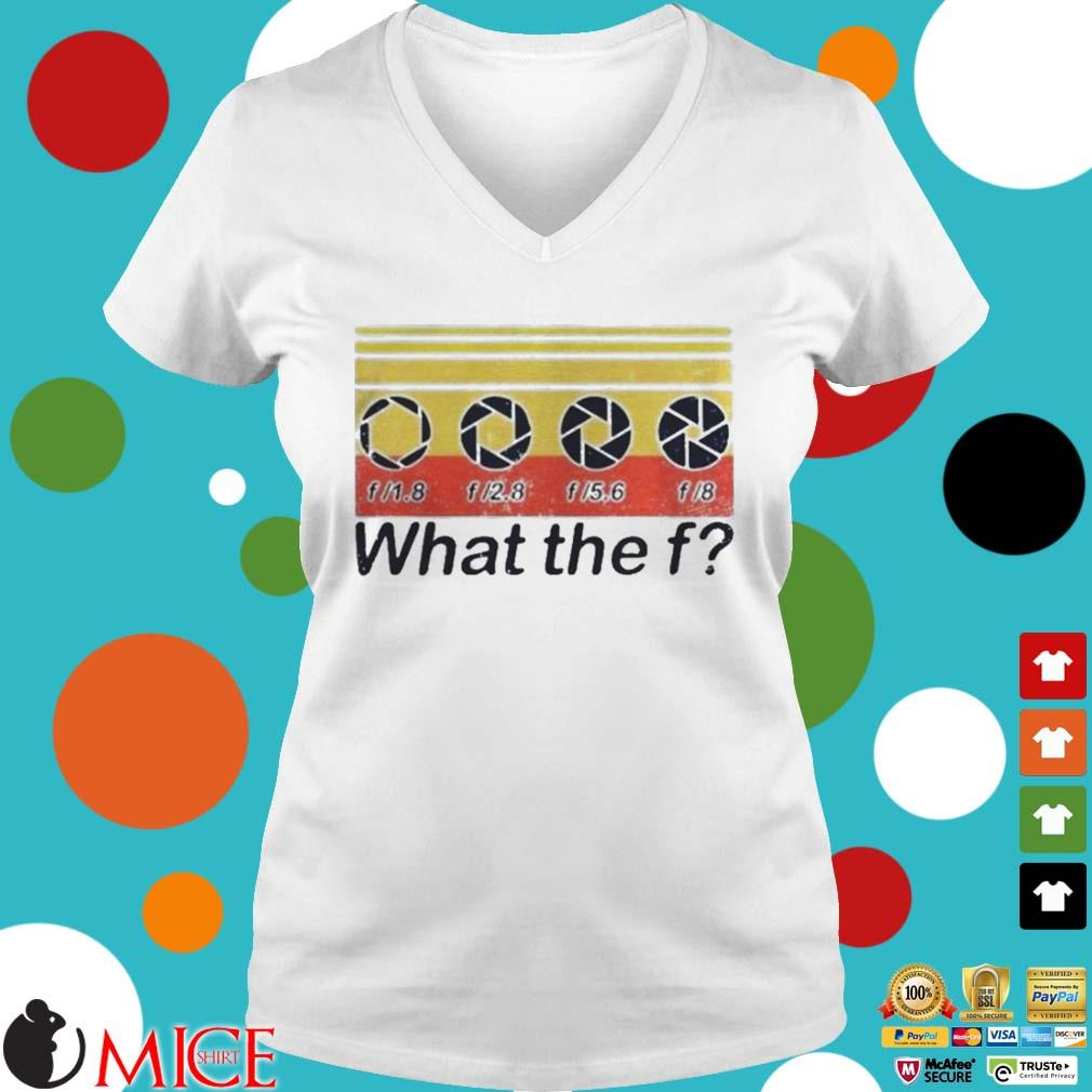 What the fuck f lens vintage s t Ladies V-Neck
