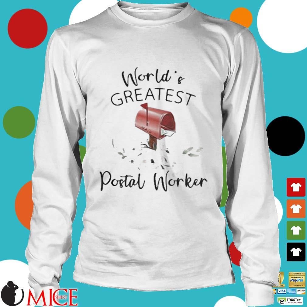 World's Greatest Postal Worker Mailbox Shirt t Longsleeve