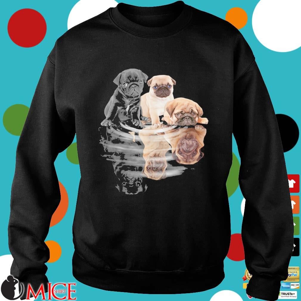 Pug dogs mirror water reflection s Sweater den