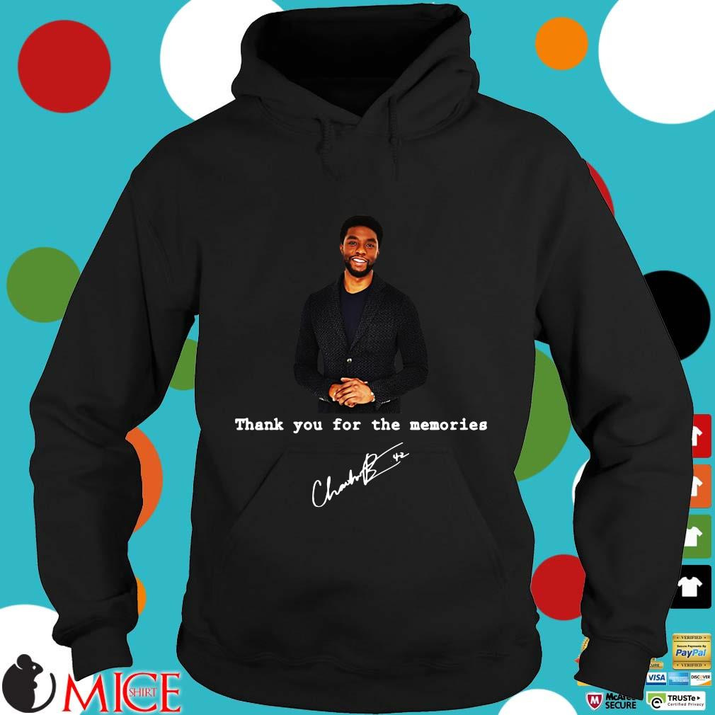 Rip Chadwick Boseman thank you for the Memories signature s Hoodie dend