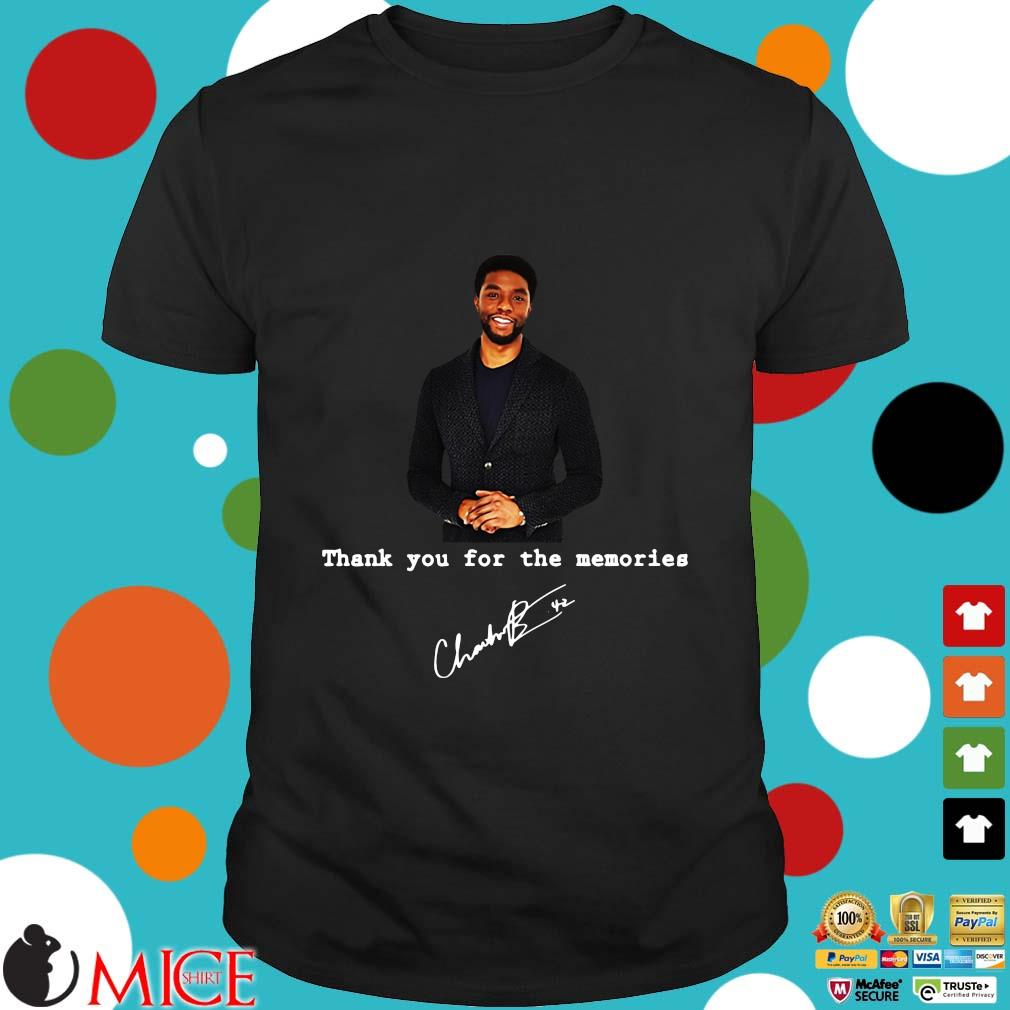 Rip Chadwick Boseman thank you for the Memories signature shirt