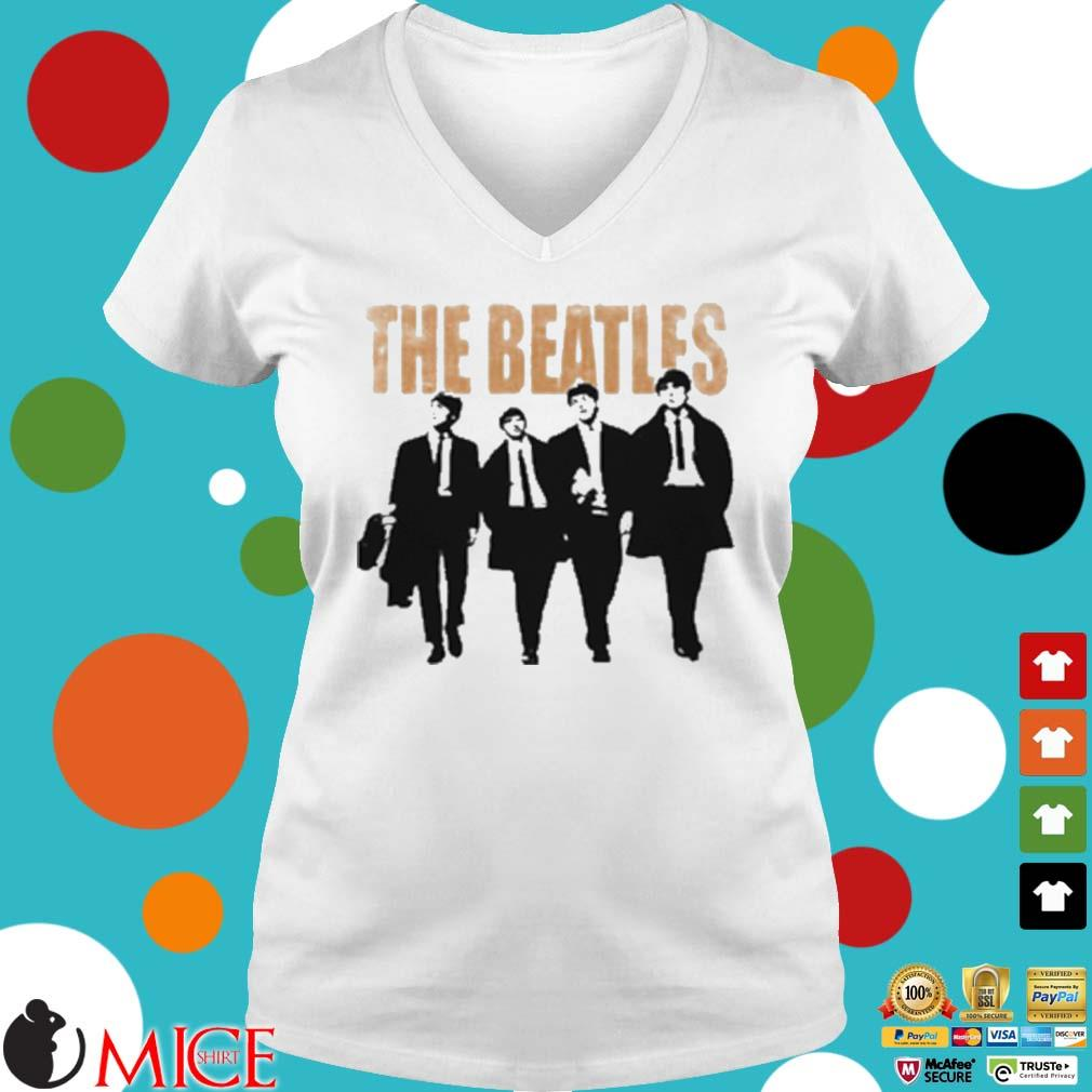 The Beatles Band Members Art T-Shirt Ladies V-Neck trangs