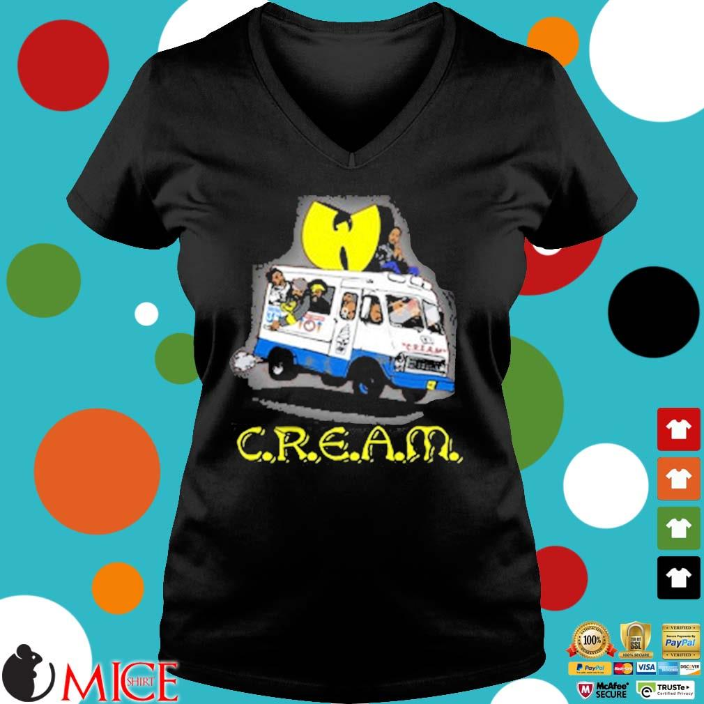 Wutang Brand Limited Ice Cream Truck T-Shirt Ladies V-Neck den