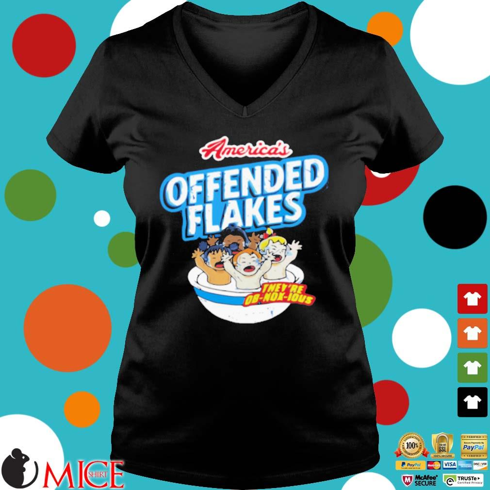 America's offended flakes they're Ob Nox Lous s Ladies V-Neck den