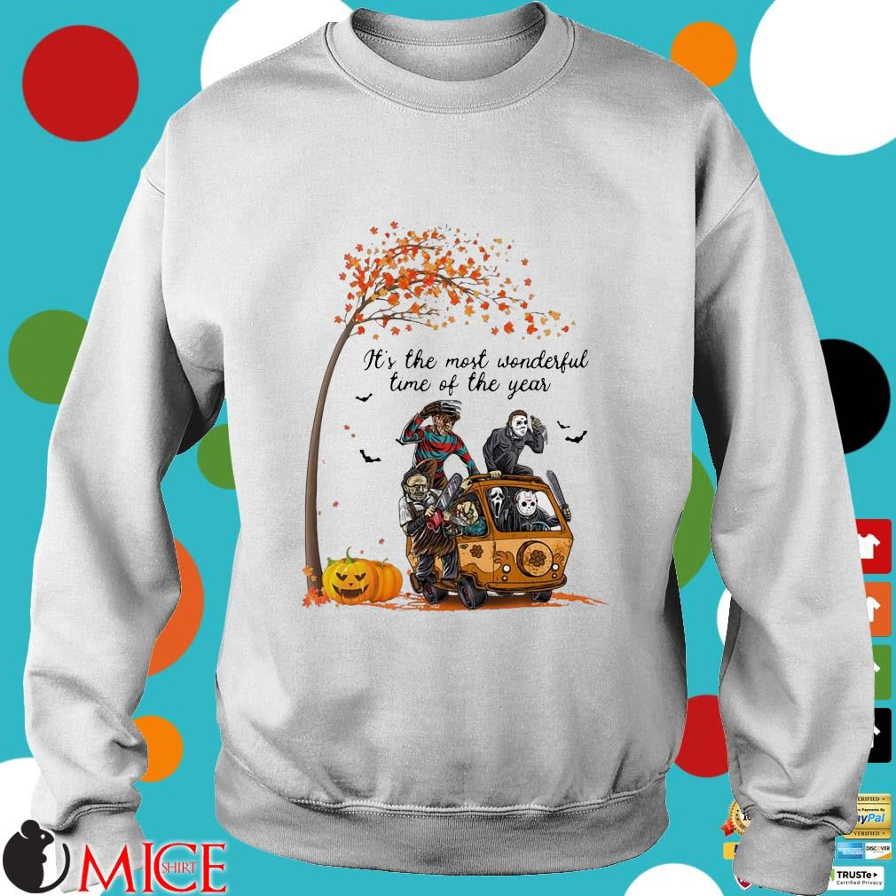 Horror character pumpkin It's the most wonderful time of the year Halloween s Sweater trang