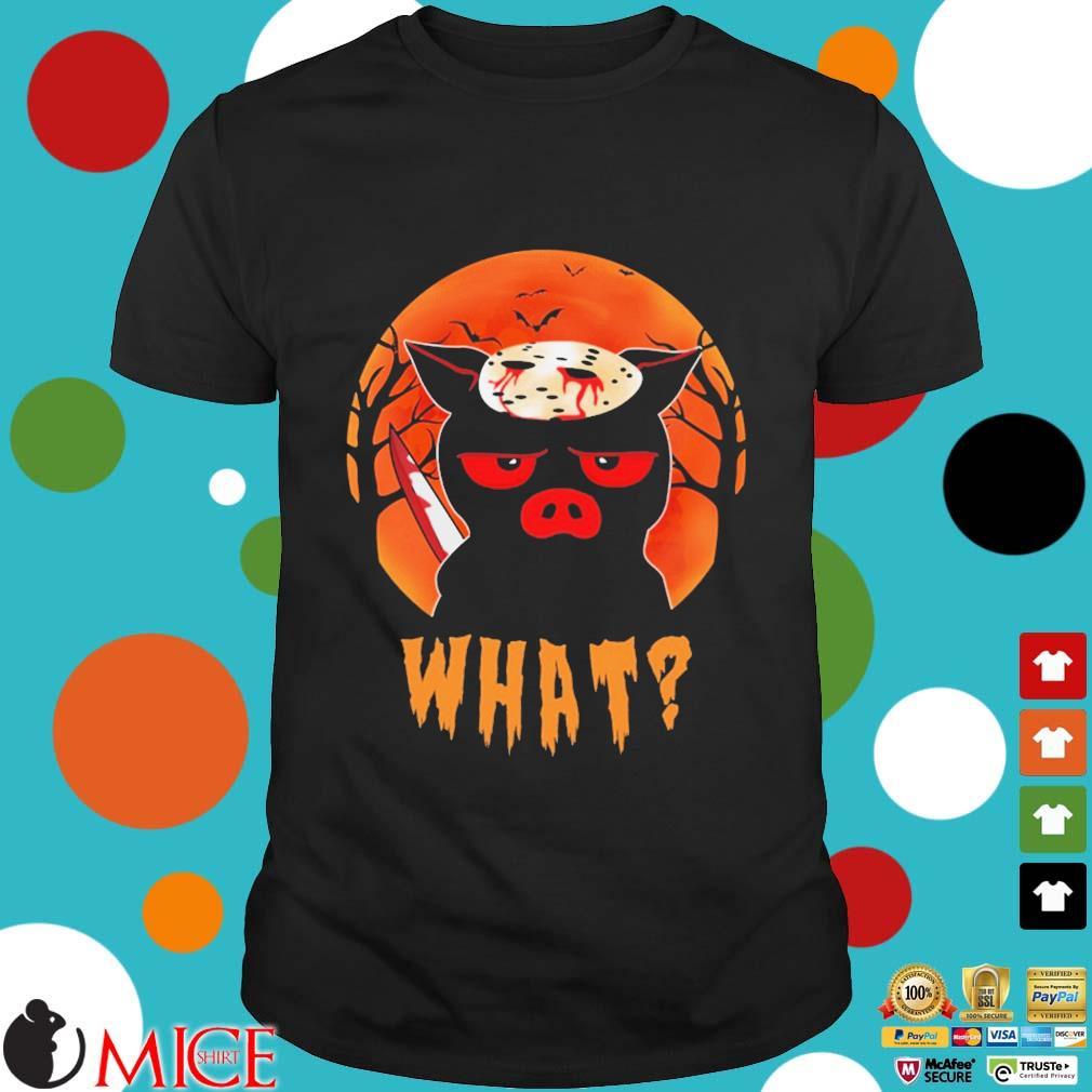 Jason Voorhees Pig what moon Halloween shirt