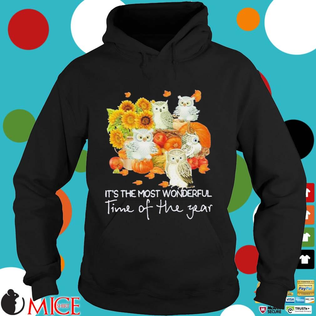 Owl it's the most wonderful time of the year Halloween Shirt Hoodie dend