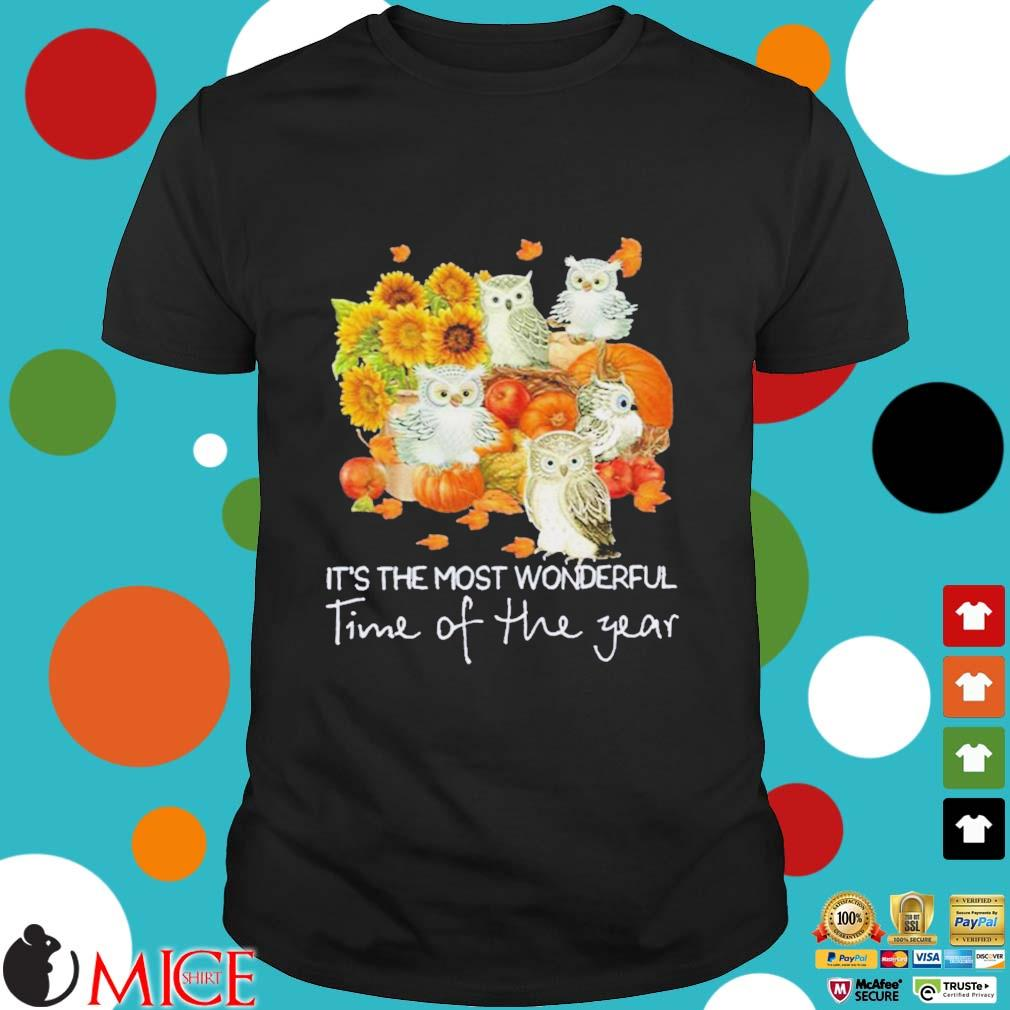 Owl it's the most wonderful time of the year Halloween Shirt