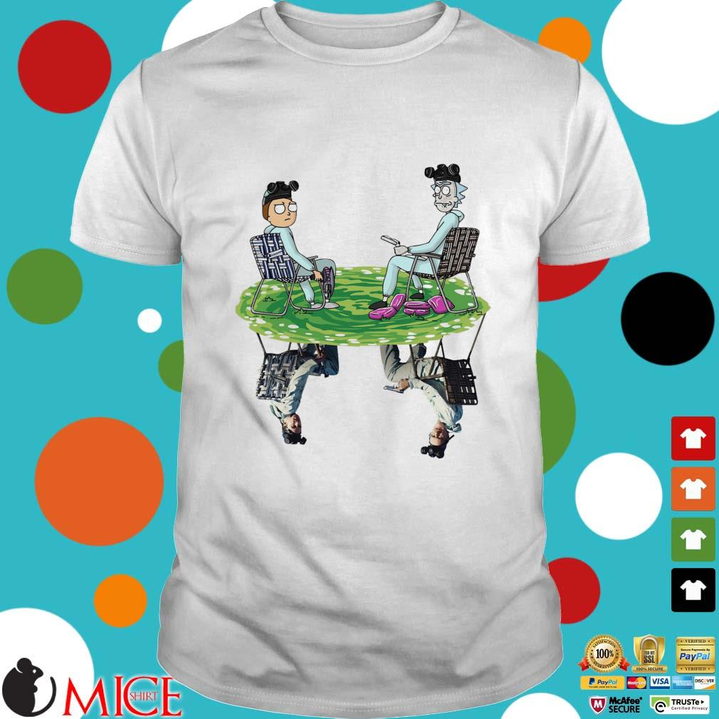 Rick and Morty crossover Walter and Jesse breaking bad tee shirt