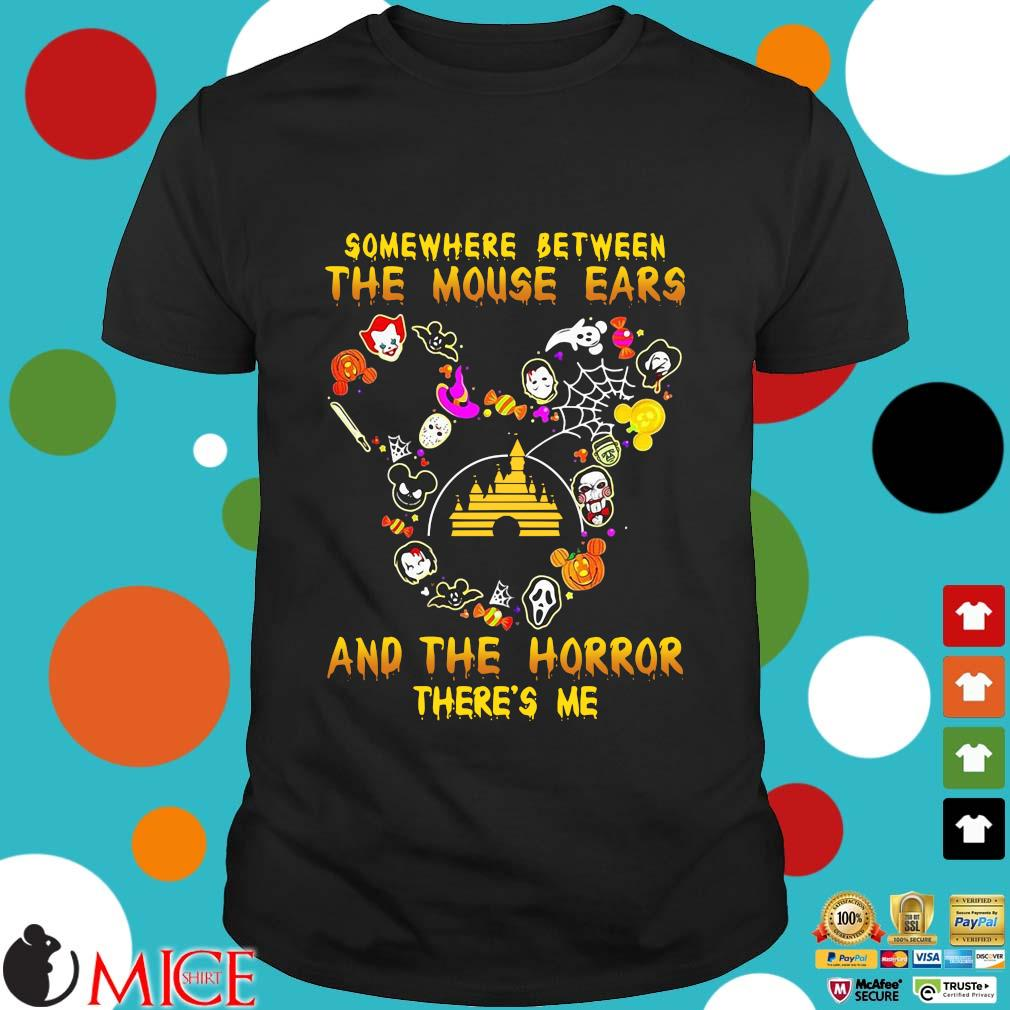 Somewhere between the mouse ears and the Horror there's me Halloween shirt