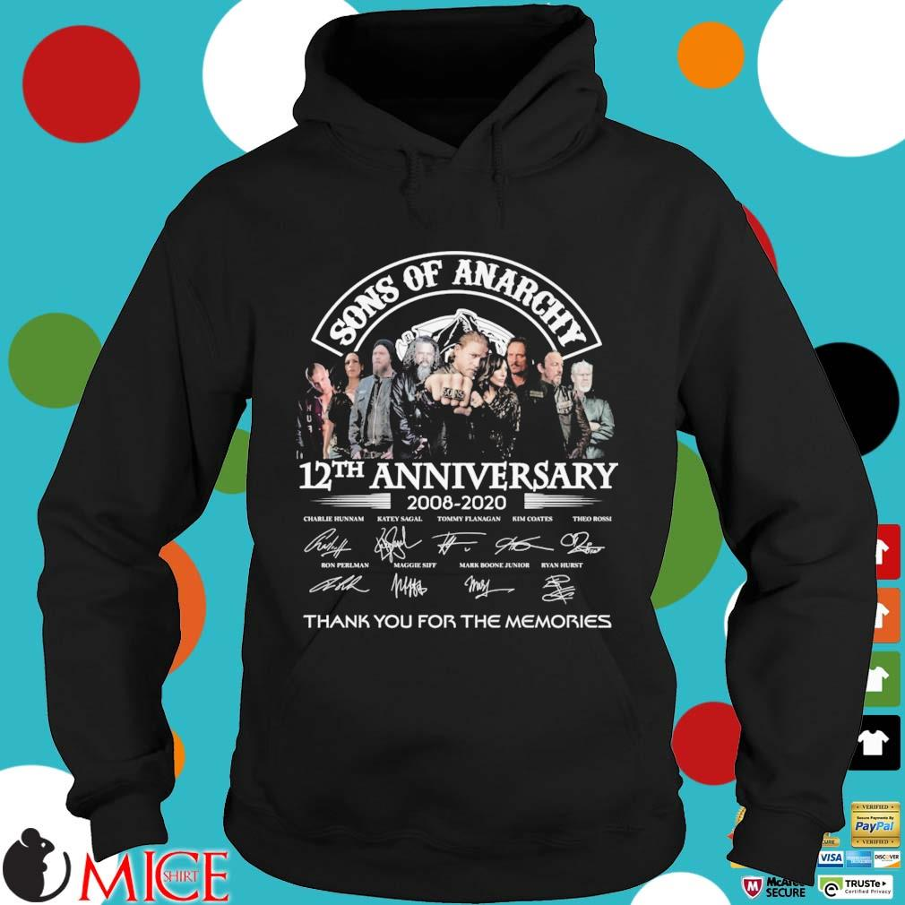 Sons Of Anarchy 12th anniversary 2008-2020 thank you for the memories signatures s Hoodie dend