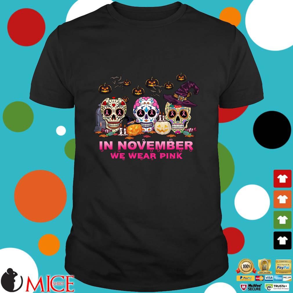 Sugar Skulls tattoo in November we wear pink Halloween shirt