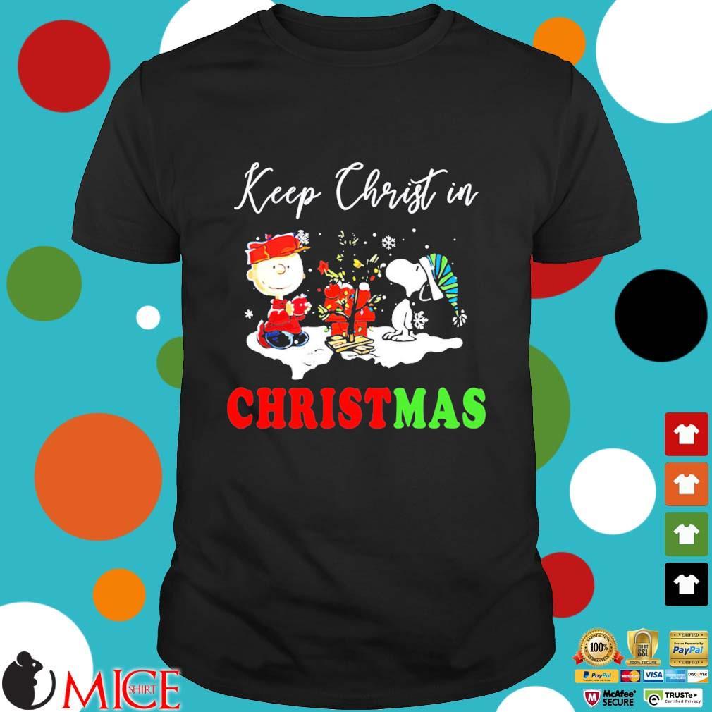 Charlie Brown Snoopy Keep Christ In Christmas Sweatshirt