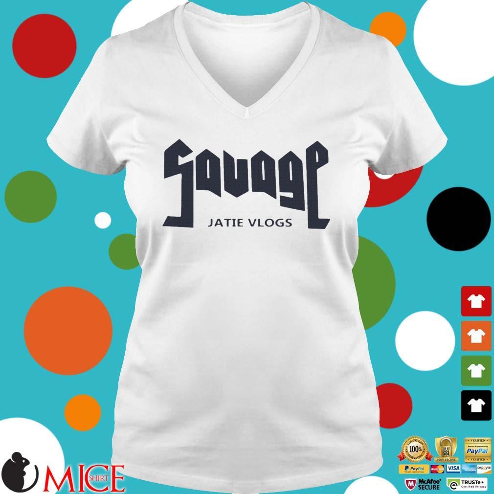 Savage Jatie Vlogs Shirt Ladies V-Neck trangs