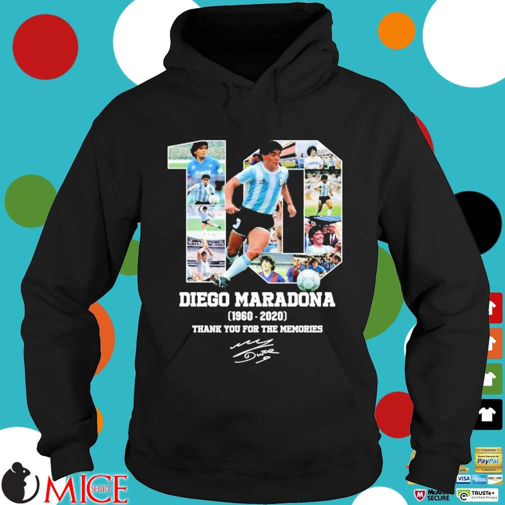 10 Diego Maradona 1960-2020 thank you for the memories signature s Hoodie dend