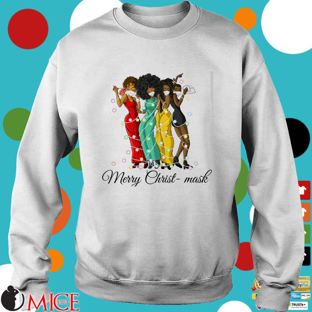 Friends black women Merry Christ-Mask Christmas sweater