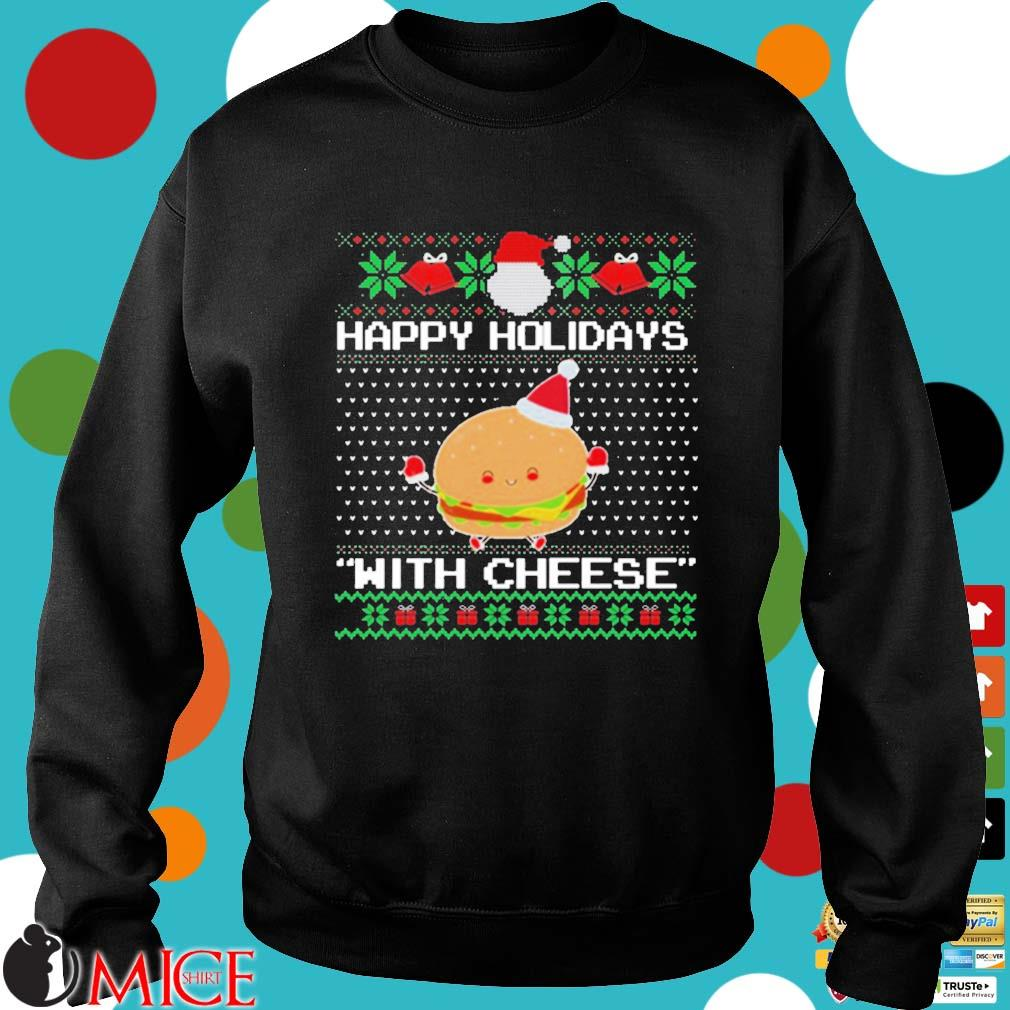 Happy Holidays With Cheese Ugly Christmas Sweater
