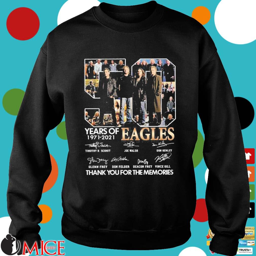 Hot Eagles 50 years of 1971-2021 signatures thank you for the memories shirt