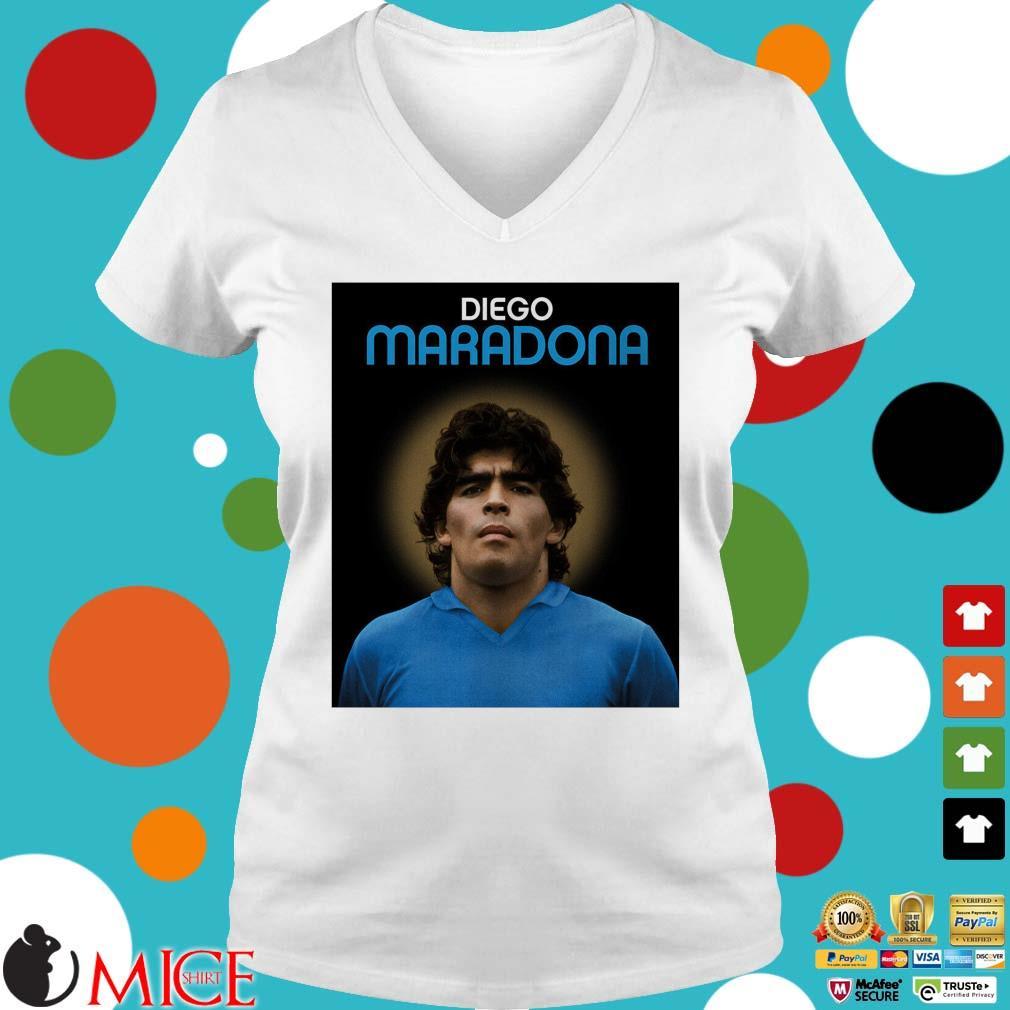 Legend Argentina Diego Maradona s Ladies V-Neck trangs