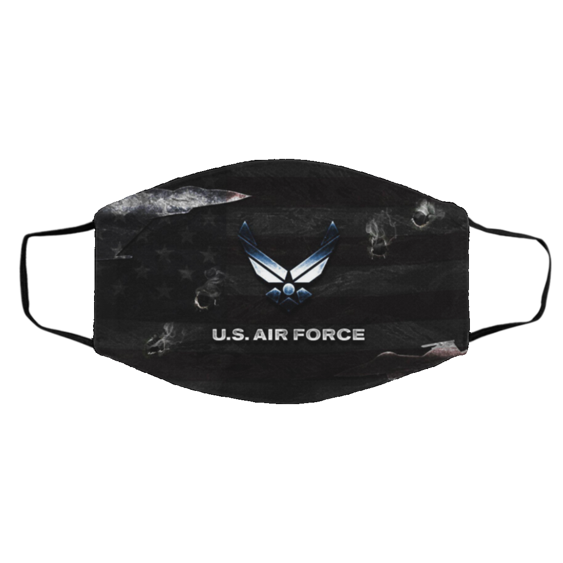 Air For-ce Cloth Face Mask – Made In Usa