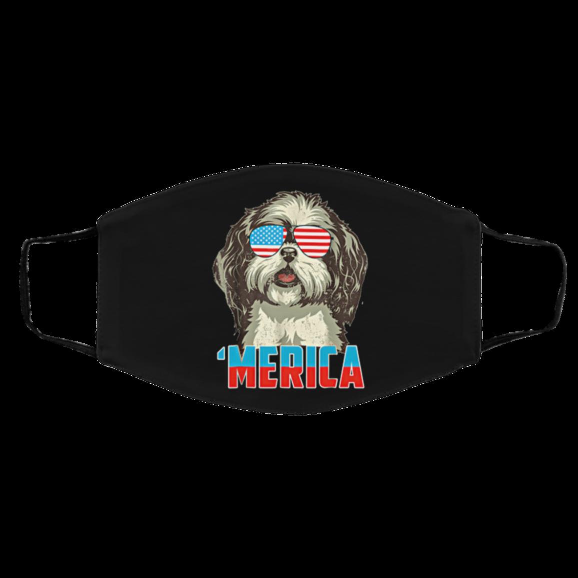4th Of July Pa-trio-t Sh-ih Tz-u Merica Cloth Face Mask