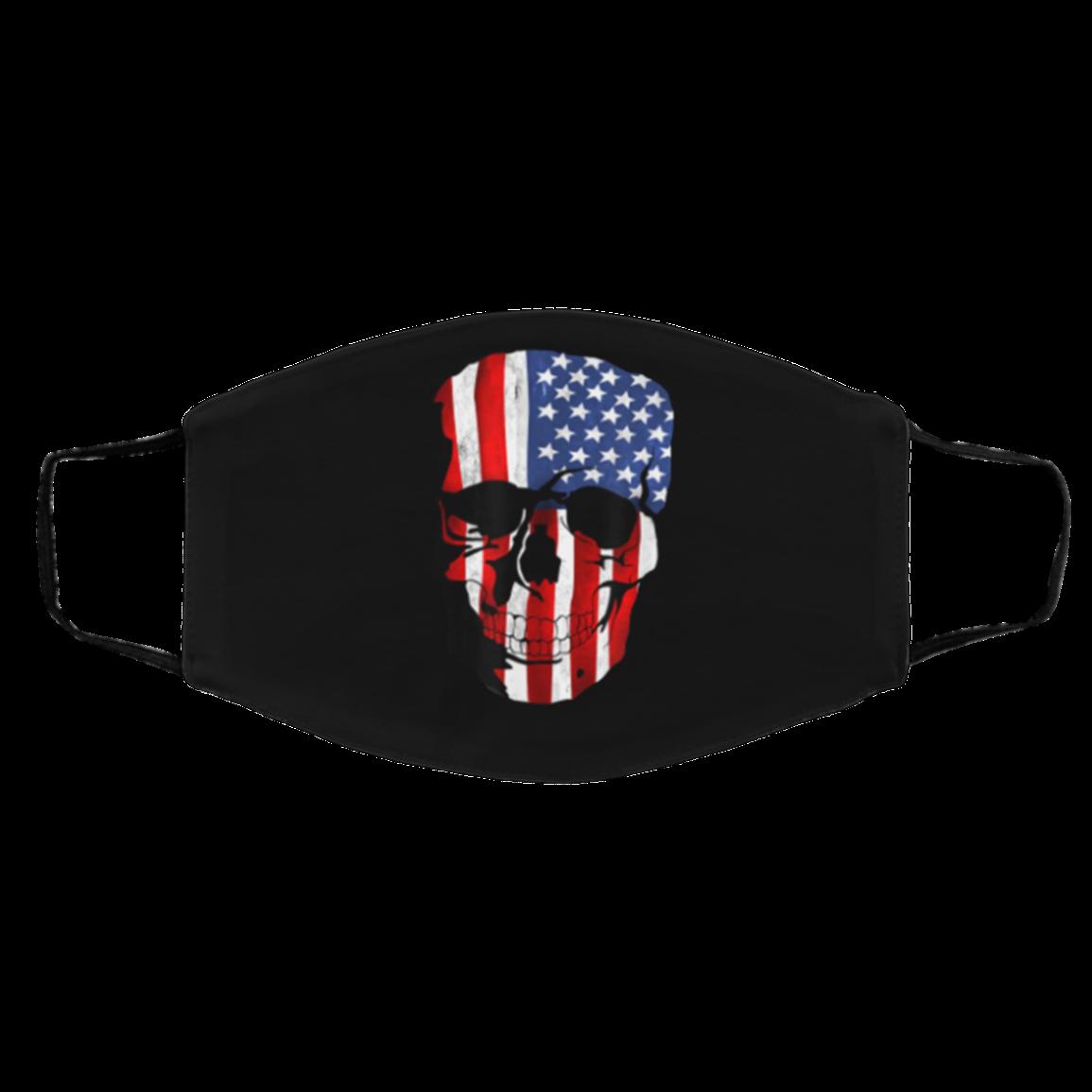 AMERI-CAN FLAG US 2020 SK-ULL FACE MASKS